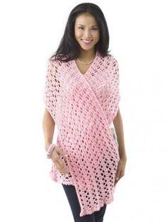 Pink Ribbon Shawl: free #crochet #shawl #pattern