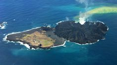 Merger of two islands due to volcano, about 620-mi S of Tokyo