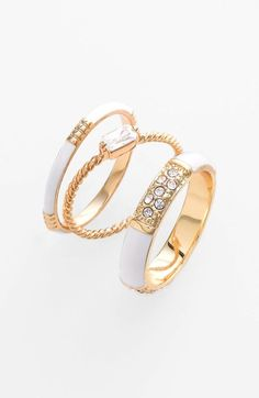 Ariella Collection Stackable Rings (Set of 3) (Nordstrom Exclusive) available at #Nordstrom $38.00