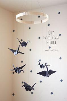 DIY: paper crane mobile