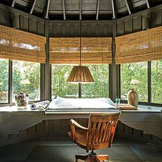 office spaces, tree house office, tree houses, beach houses, house makeover, offic space, home offices, hous offic