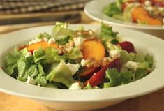Peach and Escarole Salad - Original Fast Foods
