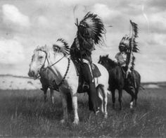 Native americans on horses