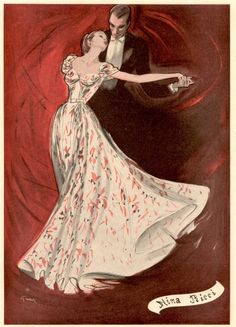 sketch, nina ricci, illustrations, rene gruau, danc, evening gowns, art, fashion illustr, rené gruau
