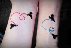 Birds st Flight - Couples Tattoos