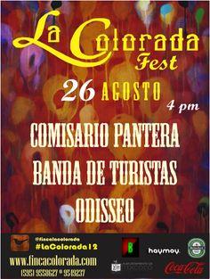 26 de Agosto, 4 pm  LA COLORADA FEST 2012  PRECIO: $200  Informes: 9549237