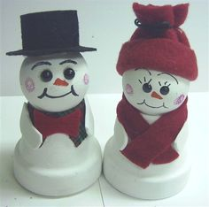 terra cotta pot snowman - Bing Images