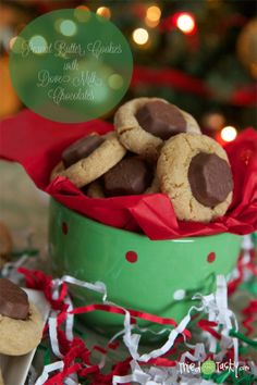 Peanut Butter Cookies with Dove Milk Chocolates - Tried and Tasty
