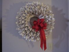 christmas projects, hymnal wreath