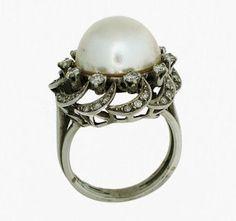 Japanese pearl ring - Anillo en oro blanco con una perla japonesa | Joyería Numinsa