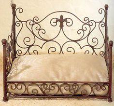 Iron Fleur De Lis Pet Day Bed