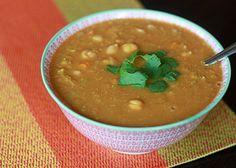 Slow Cooker Red Lentil, Chickpea, & Coconut Soup