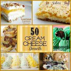 Six Sisters' Stuff: 50 Cream Cheese Desserts