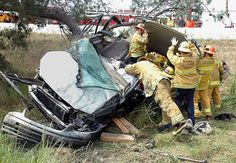 women Firefighter Rescue Images | firefighters rescue woman trapped in vehicle los angeles firefighters ...