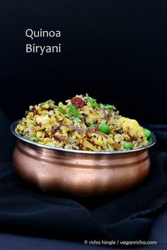 Quinoa Cauliflower Biryani. #Vegan #Glutenfree #Recipe #recipe