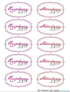Free Homemade Jam Labels: Jazz up your Jam!