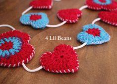 Crochet Garland Crochet Heart Garland/Bunting Pattern by 4LilBeans, $3.50