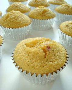 Maple Bacon Corn Muffins.  Another pinner says: Made with oven toasted bacon and enough maple syrup to make a statement.