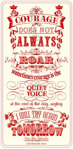 Quiet courage.  Need more of this.