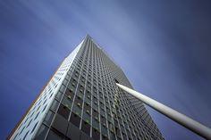 KPN Telecom Tower http://www.mabrycampbell.com #rotterdam #thenetherlands #kpntower #kpntelecom #architecture #longexposure #renzopiano #holland #mabrycampbell #photo #photography