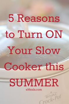 This is why you should use your slow cooker this summer! #crockpot #Slowcooker