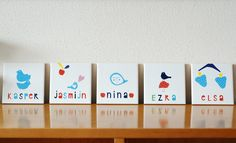Nina van de Goor, Personalized name tiles