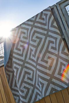 Modern Geometric Maze Quilt