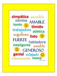 Adjectives In Spanish Worksheet | ids $ 2 00 spanish verb conjugations verbs co $ 2 00 18 spanish ...