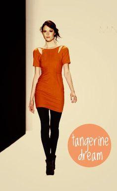 fall trend - tangerine tango at rebecca minkoff
