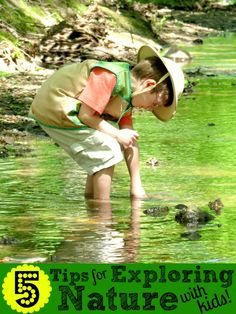 Exploring Nature with Kids- 5 tips to encourage kids to connect with nature, even if you're timid or don't know where to start yourself!