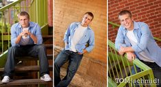 Male Senior Portraits - Outdoor Photo Shoot. Lots of wonderful backgrounds and poses