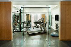 Laurel Woods Gym - modern - Home Gym - Boston - LDa Architecture & Interiors