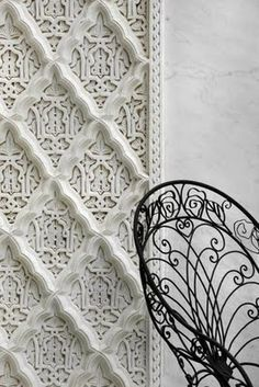 layered patterned wall treatment.  texture. wall. interesting designs