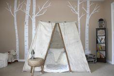 Tent in a #bigboyroom