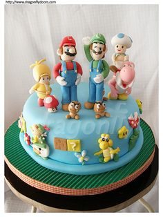 Super Mario Bros. cake.