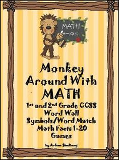 Monkey Around with Math CCSS Math Words, Addition and Subtraction $
