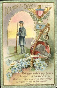 memorial day postcards