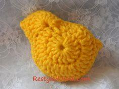 crochet chick: free pattern
