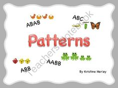 Patterns! Enter for your chance to win 1 of 3.  Patterns (22 pages) from Kristine's Classroom Creations on TeachersNotebook.com (Ends on on 9-18-2014)  Pattern practice giveaway!! Here is my latest product!!!