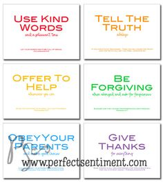 family rules printable w/ Bible verses