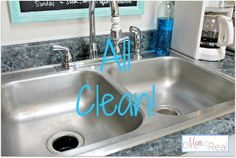 How To Clean Your Stainless Steel Kitchen Sink - Mom 4 Real steel kitchen, kitchen sinks
