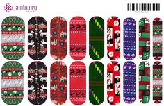 Upload this file to Jamberrys Nail Art Studio to create these custom Ugly Christmas Sweater nail wraps!! www.frannyheck.jamberrynails.net