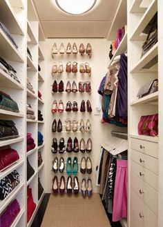 Dream closet Note - the dream is the organization as much as the closet...lol