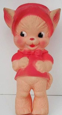 Vintage 1960's Cat Squeeze Toy by socal72girl, via Flickr