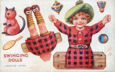 Swinging Dolls Postcards