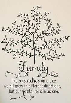 'Family Like Branches' #quote #wall #art