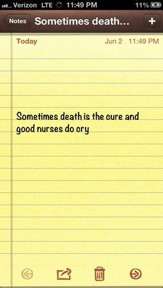 Good nurses do cry!