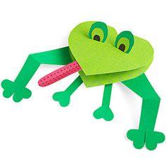 Paper Frog Valentine