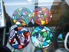 cd crafts cd coaster, diy cd painting, cds craft, record craft ideas, glass paint