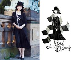 Little black dress. (by Nancy Zhang) http://lookbook.nu/look/3898450-Little-black-dress